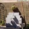 Unpainted cinder block succulent garden test fit.
