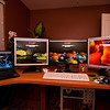 Dell E6400, Samsung 191T Plus, NEC P221W, Samsung 910T