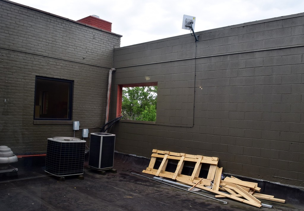 . An outdoors area that will be transformed into a flight-cage for the bats at the Organization for Bat Conservation�s new sanctuary at 75 Huron St. in downtown Pontiac on Friday, June 9, 2017.