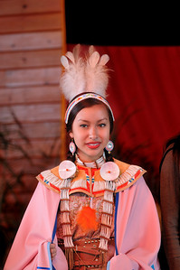 This young Commanche girl is a world champion Fancy Shawl dancer.  36th Annual Miccosukee Indian Arts Festival.