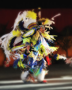 A World Champion in the Fancy Dance category from the Arapaho Nation.  36th Annual Miccosukee Indian Arts Festival.