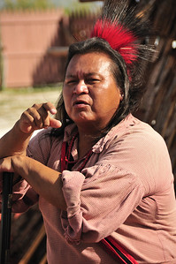 Diamond Go-Sti, Cherokee Storyteller.  Taken at 34th Miccosukee Indian Arts Festival, Jan 09.