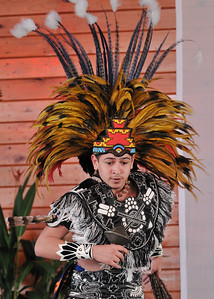 A native dancer from the Tloke-Nahuake (Aztec) of Mexico. 35th Annual Miccosukee Indian Arts Festival.