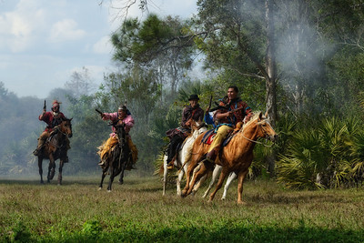 Seminole War Reenactment Big Cypress Seminole Reservation
