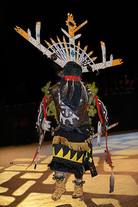 White Mountain Apache Crown Dancer Seminole Tribal Fair, 2014