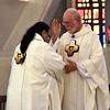 Fr. Ed blesses Dn. Steve