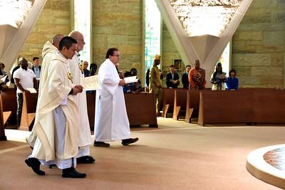 Fr. Francis, Fr. Byron, Fr. Ed and Fr. Jack process in