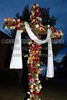 Before sunrise, congregation members at First United Methodist Church in Ridgeland removed the black drape from their cross, replaced it with a white one and decorated the cross with flowers signifying the resurrection of Jesus on Easter Sunday.
