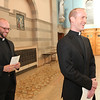 Eric Immel and Matthew Donovan share a laugh before beginning their First Vows ceremony at St. Thomas More Parish in St. Paul, Minnesota, on August 10, 2013.