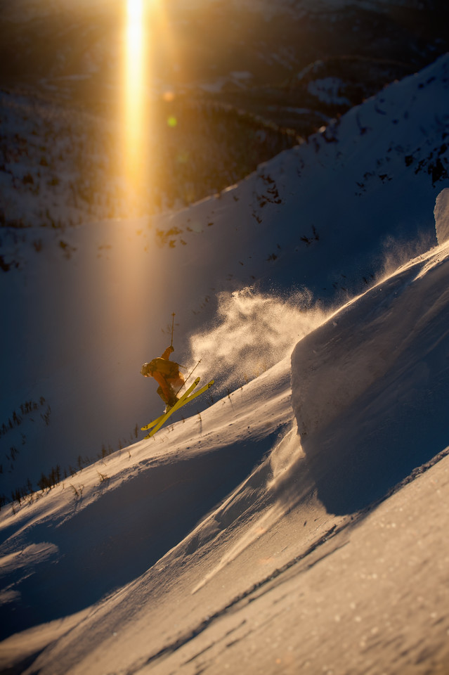 Trace Cooke airs  into the magic hour at Whitewater BC