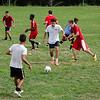 The Fitchburg High boys soccer team held their first day of practices on Thursday afternoon at FHS. SENTINEL & ENTERPRISE / Ashley Green