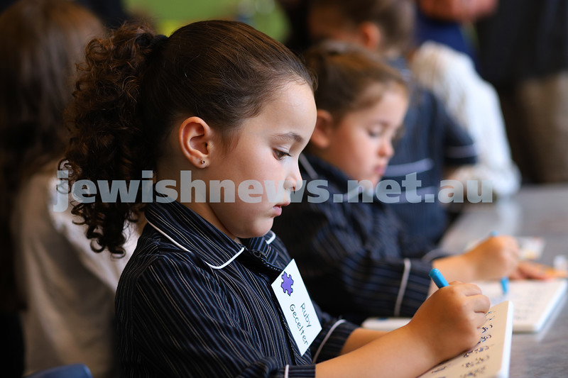 30-1-20. Beth Rivkah Ladies College. Fist day of school for prep/foundation students. Photo: Peter Haskin