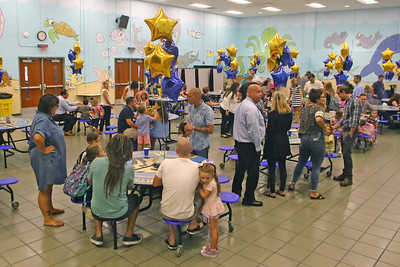 "Spring Lake Heights Elementary school hosted their ""Boohoo and Yahoo"" kindergarten breakfast for new students and their parents on the first day of school on Wednesday Sept.4, 2019  (MARK R. SULLIVAN THE COAST STAR)"