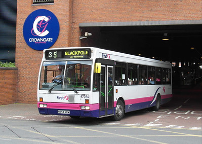67254 - M254MRW - Worcester (bus station) - 28.8.12