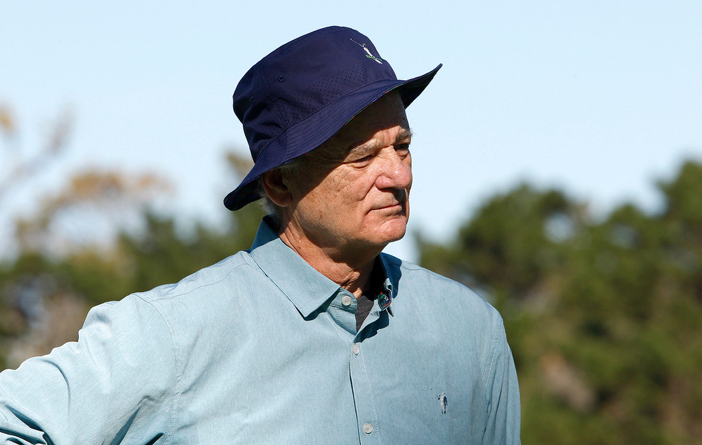 . Bill Murray played Spyglass Hill Golf Course during the first round of the AT&T Pebble Beach Pro-Am on Thursday, Feb. 8, 2018.  (Vern Fisher - Monterey Herald)