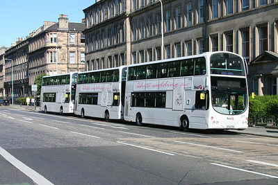 32570 and two other FiG wedding buses on London Road