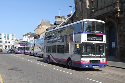 30828 is to lead the convoy from Linlithgow.   I will shortly be in the doghouse as the only bus of the four which is limited to 50....