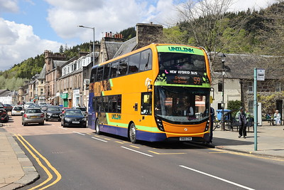 39303 adds a splash of colour in Callander and still looks tip top for a five year old vehicle. Well done Bannockburn! 16th May 2021