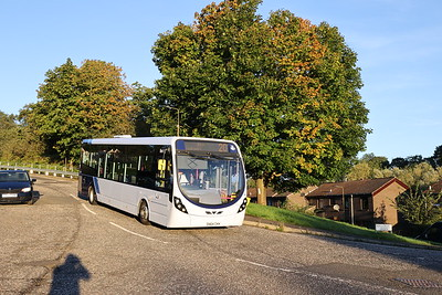 63241 SN64CKK arrives at Hallcroft Park from Hermiston Gait to form the first First departure 31st August 2020