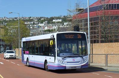 44595 - YX14RWO - Swansea (bus station) - 14.4.14