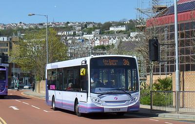 44606 - YX14RUR - Swansea (bus station) - 14.4.14