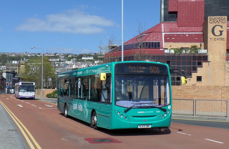 67431 - SL63GBF - Swansea (bus station) - 14.4.14
