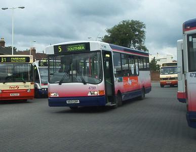 47301 - N601EBP - Fareham (bus station) - 9.7.04
