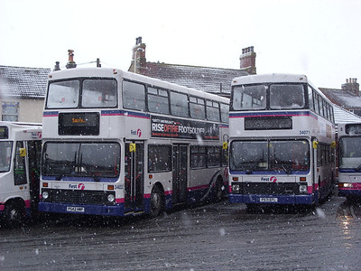 34022 and 34071 - Fareham (bus station) - 3.2.09