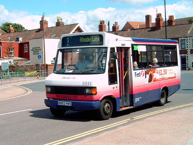 51593 - N893HWS - Bridgwater (bus station) - 30.7.07