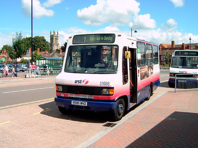 51688 - N585WND - Bridgwater (bus station) - 30.7.07