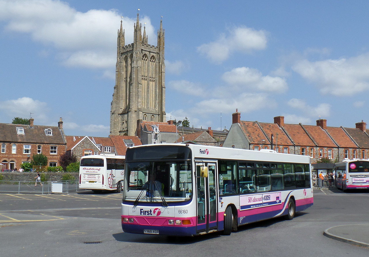 66160 - S360XCR - Wells (bus station) - 30.7.14