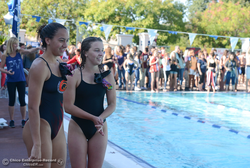 . The annual Fish Bowl dual meet between Chico and Pleasant Valley swim teams Wednesday October 4, 2017 at In Motion Fitness in Chico, California. (Emily Bertolino -- Enterprise-Record)