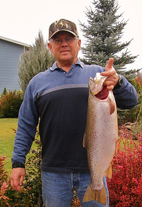 Ed Knight caught this 24.5-inch cutthroat trout from Scofield Reservoir on Nov. 23, 2013. Photo by Brent Stettler.