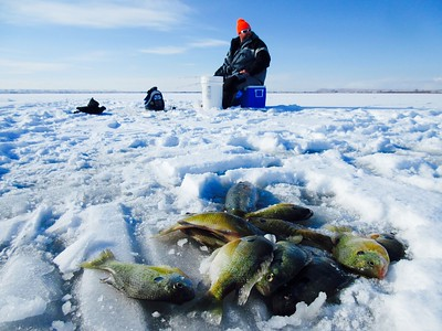 Pelican Lake ice fishing