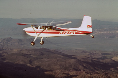 Airplane used for aerial stocking of fish in high mountain lakes.  Photo by Utah Division of Wildlife Resources.