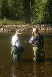 Teaching fly fishing and choosing a fly