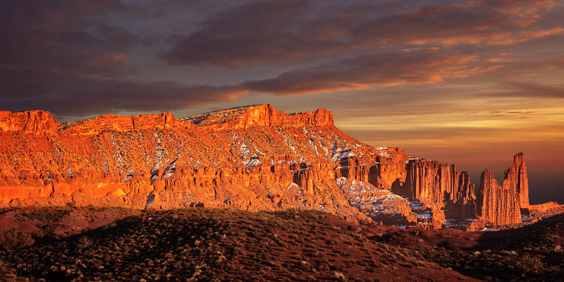 Fisher Towers Winter Sunset