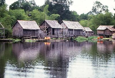 Small village near Sungai Empanang