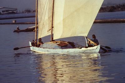 Twin mast boat