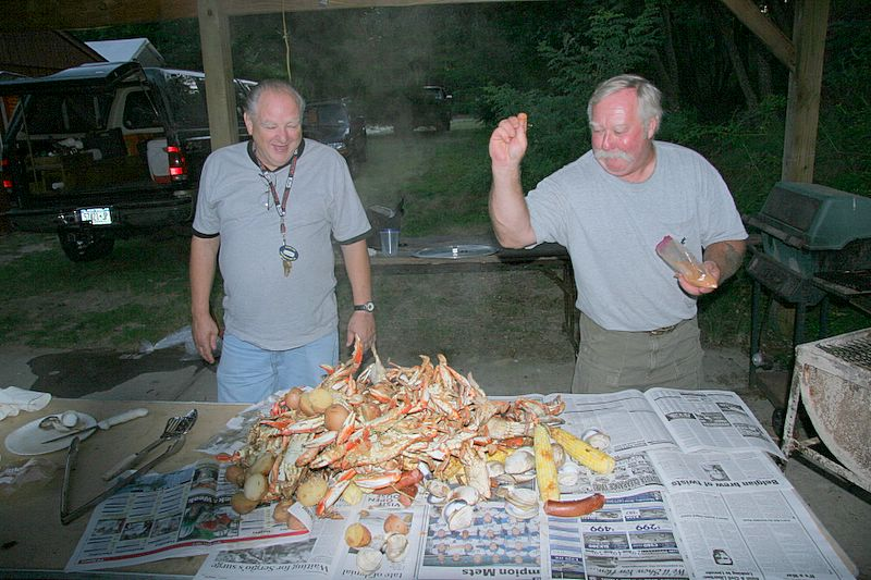 """Here we have Pete and Joe adding a little """"BAM"""" to the finished product."""