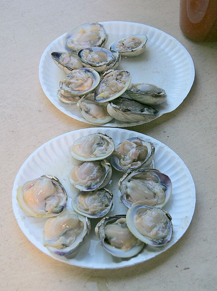 And the appetizer, about 6 dozen clams on the half to get things started.  They were so good we couldn't stop eating them.<br /> <br /> A real great time with some great guys.<br /> <br /> Before the meal we shot three rounds of 5-stand and had a ball.