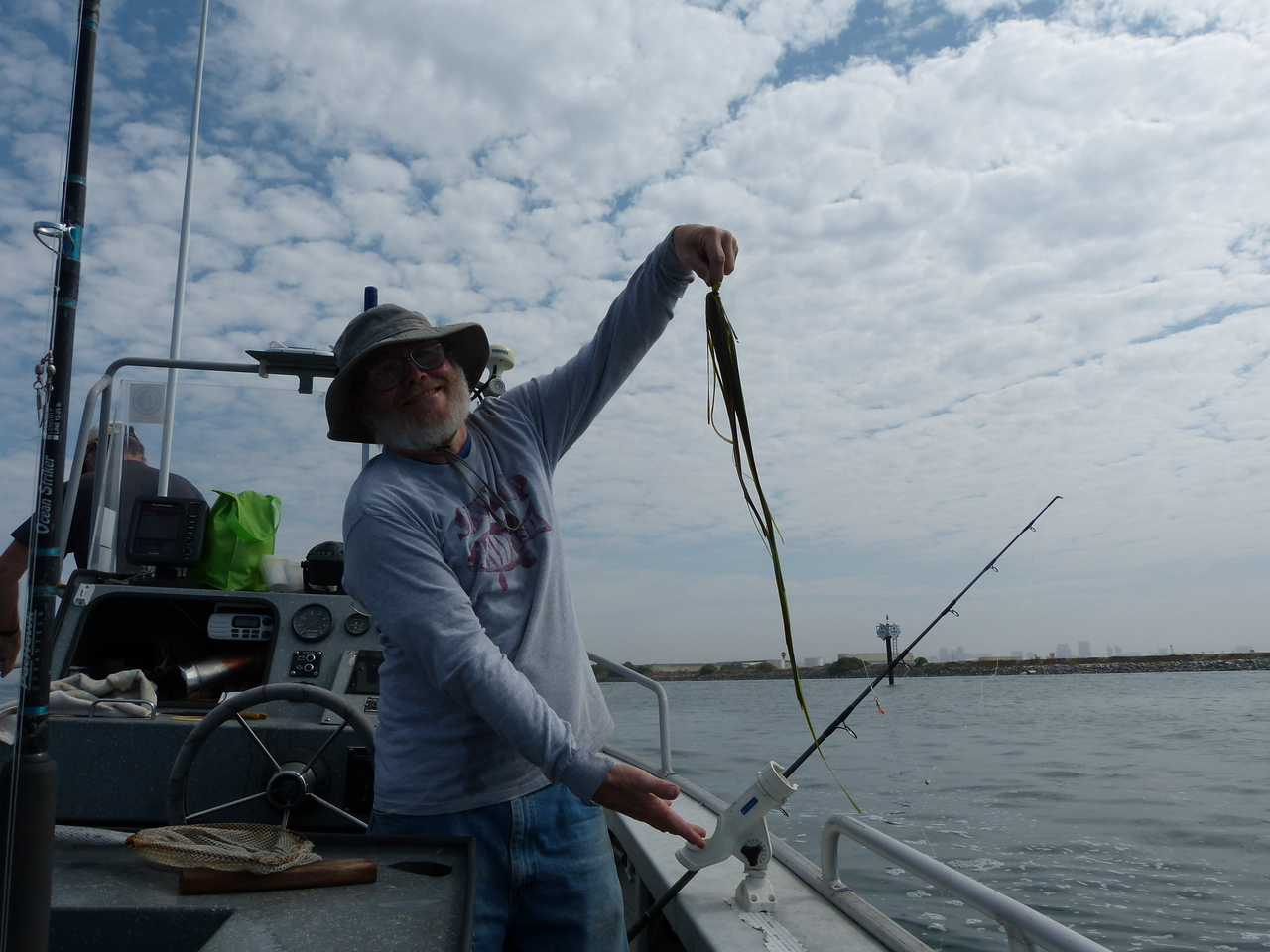 Ah, another great catch in the bay -- we were drifting a bit too close to North Island!