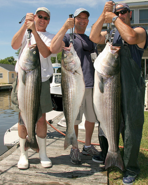 Chris D'Agostino and crew with a fine catch.