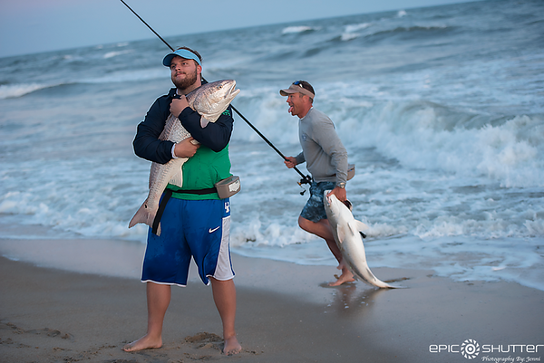 May 3, 2018, Red Drum Fishing, Cape Point, Buxton, Hatteras Island, North Carolina, Epic Shutter Photography, Outer Banks Photographers, Hatteras Island Documentary Photographer, Fisherman, Sunset