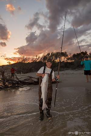 May 7, 2017, South Beach, Hatteras, Hatteras Island, North Carolina, Fishing, Fisherman, Red Drum, Surf Fishing, Cape Hatteras National Seashore, Epic Shutter Photography