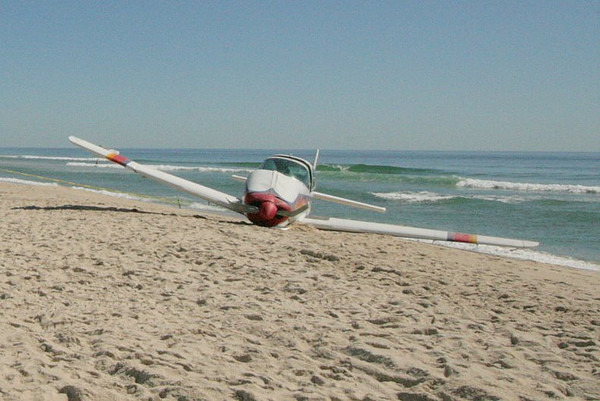 "Small Plane Ditches on beach between Point O woods and Sailors Haven.<br /> <br /> View all the images<br /> <br /> <a href=""http://skimmer.smugmug.com/Airplanes/Ditched-Plane/9707370_qD6MC"">http://skimmer.smugmug.com/Airplanes/Ditched-Plane/9707370_qD6MC</a>"