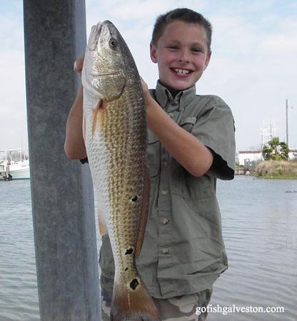 Cade Stapleton with redfish