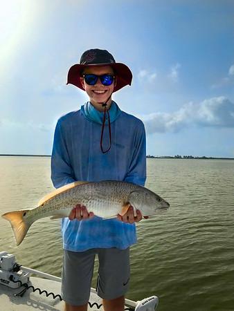 Wyatt with Awesome Redfish