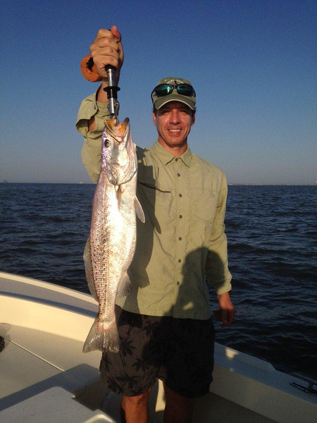 Scott Riedel with 6 lb  speckled trout