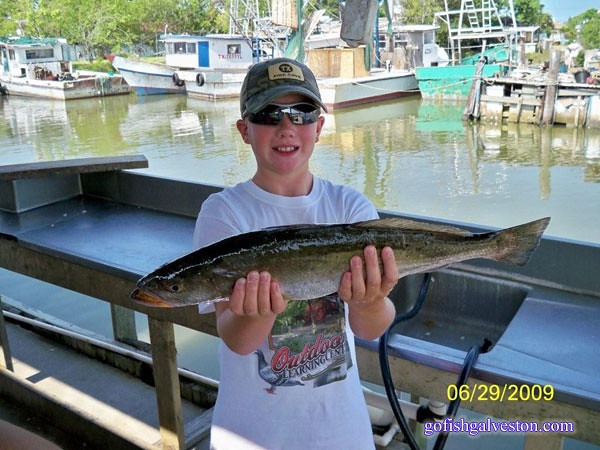 Daniel Burke with a 23 inch Speckled Trout